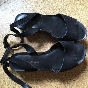 Pour La Victoire Wood Platform Leather Sandals